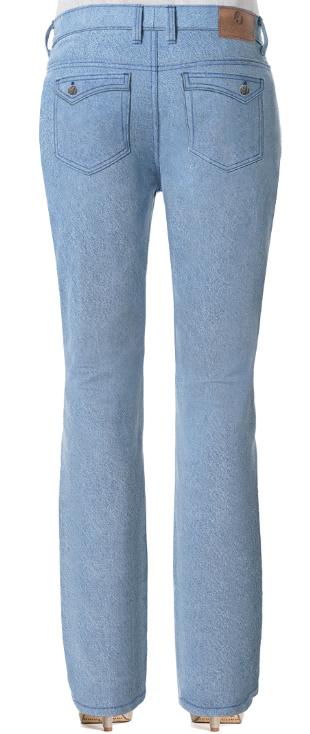 Damen Bootcut Jeans mit Klapptaschen für kleine Hintern