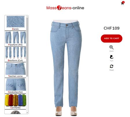 Damen Jeans ch - Jeans ganz einfach im Konfigurator designen