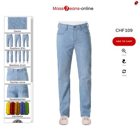Herren Jeans ch - Jeans ganz einfach im Konfigurator designen