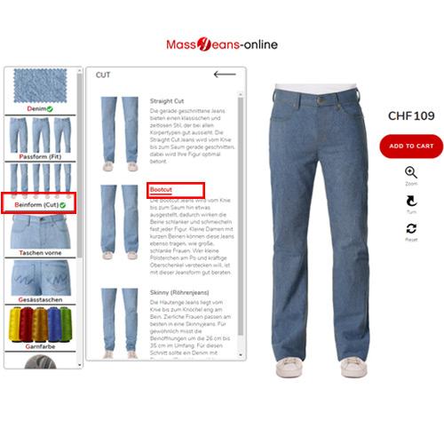 Schlaghosen Jeans Herren selber designen